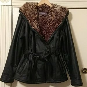 Wilson's leather black coat